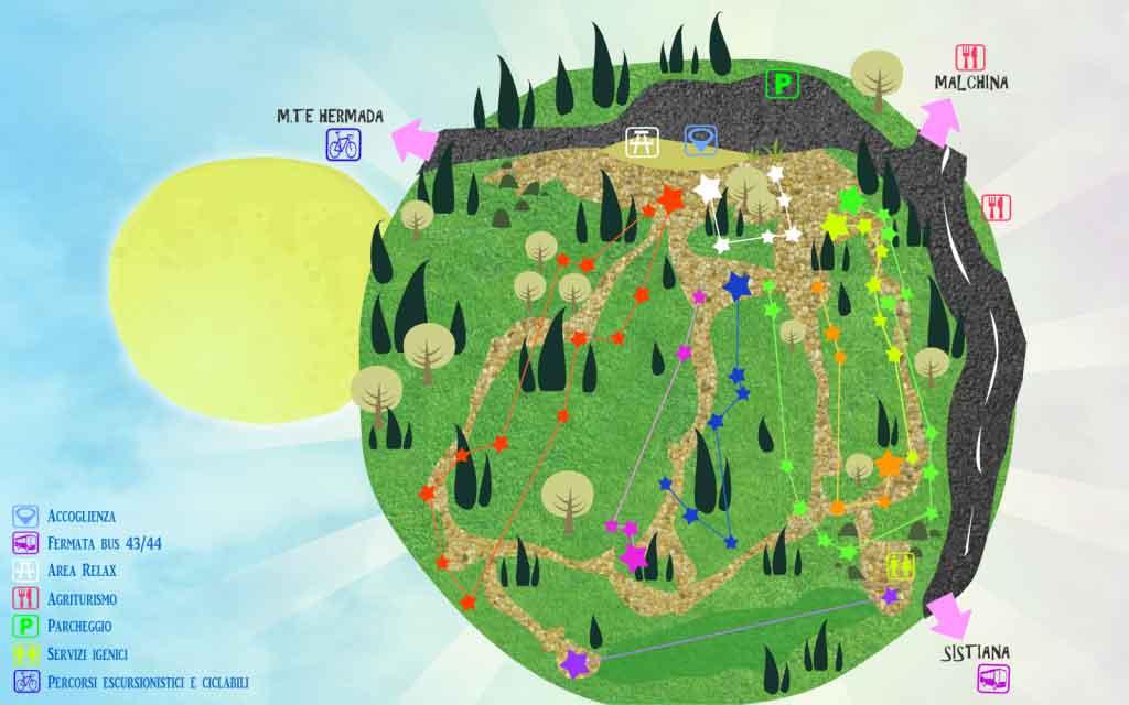 mappa Trieste Adventure Park