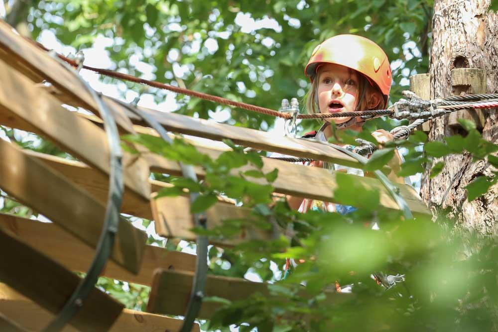 bambini al Trieste Adventure Park