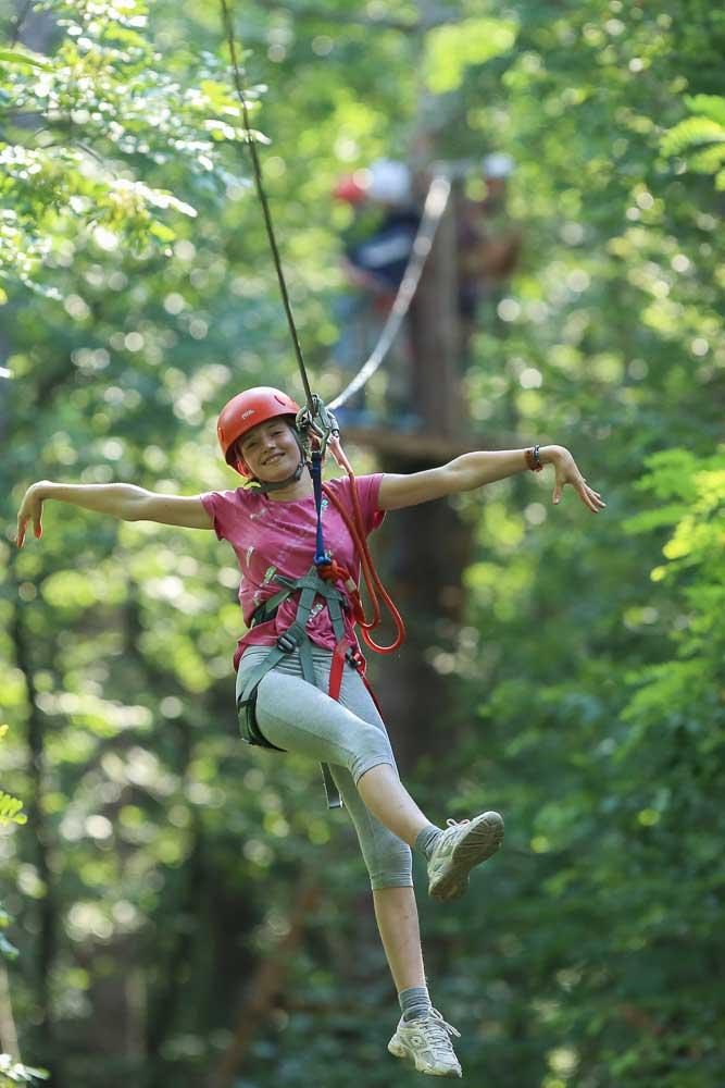 volare tra gli alberi al Trieste Adventure Park